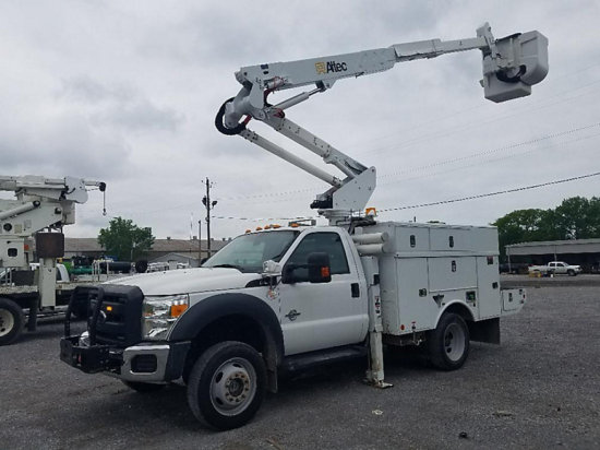 (Graysville, AL) Altec AT37G, Articulating & Telescopic Bucket Truck mounted behind cab on 2012 Ford