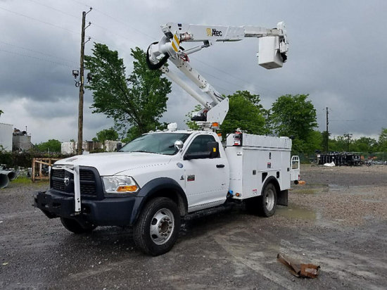 (Graysville, AL) Altec AT37G, Articulating & Telescopic Bucket Truck mounted behind cab on 2012 Dodg