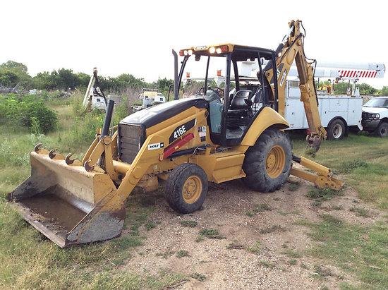 (San Antonio, TX) 2007 Caterpillar 416E Tractor Loader Extendahoe Runs & Operates, missing hoe bucke