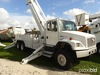 Altec A77T-E93, Articulating & Telescopic Material Handling Elevator Bucket Truck mounted behind cab