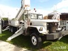 Altec AM900-E100, Double-Elevator Bucket Truck rear mounted on 1988 Military 6x6 Flatbed Truck