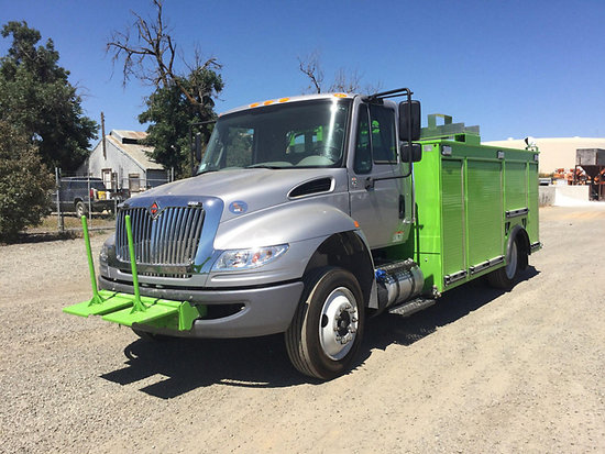 (Dixon, CA) 2018 International 4300 DuraStar Reel Loader/Utility Truck like new, runs and drives