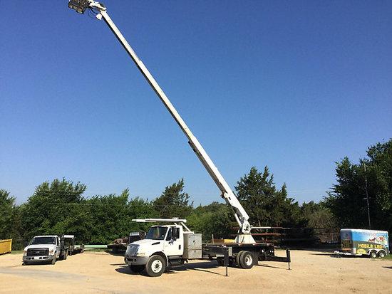 (Denton, TX) Manitex SX70, Sign Crane Platform Lift rear mounted on 2005 International 4300 Flatbed
