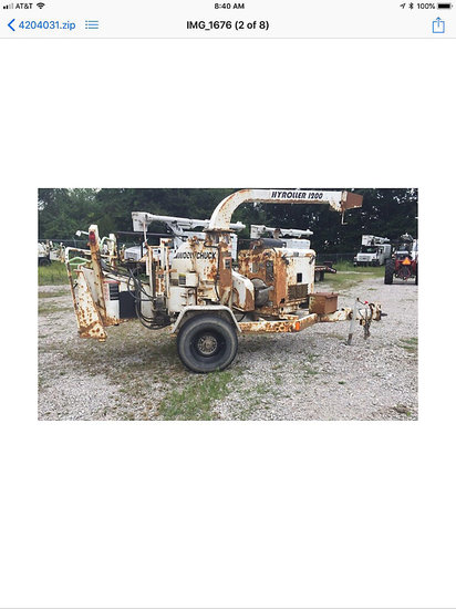 Ashland, OH) 2004 Wood Chuck Hyroller 1200 Chipper (12