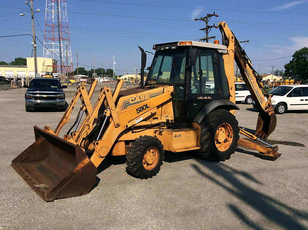 (Gary, IN) 1996 Case 580L 4x4 Tractor Loader Extendahoe runs & operates