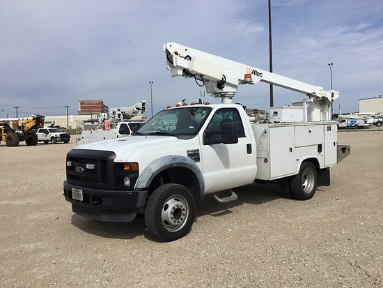 (Waxahachie, TX) Altec AT200-A, Articulating & Telescopic Bucket Truck mounted behind cab on 2008 Fo