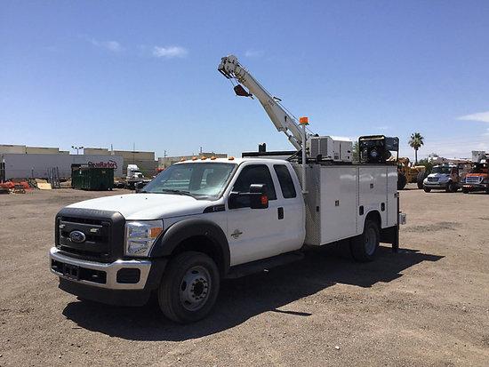 (Phoenix, AZ) 2014 Ford F550 Extended-Cab Mechanics Service Truck runs. drives & operates