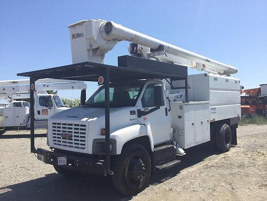 (Dixon, CA) Altec LRV-60E70, Over-Center Elevator Bucket Truck mounted behind cab on 2006 GMC C7500