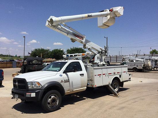 (Lubbock, TX) Altec L37MR, Over-Center Material Handling Bucket Truck center mounted on 2014 Ram W55