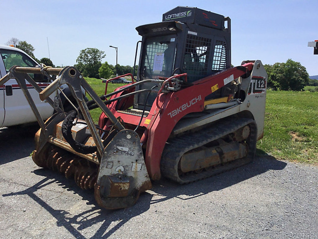 (Frederick, MD) 2013 Takeuchi TL12 Crawler Skid Steer Loader/Forestry Mulcher Not running, condition