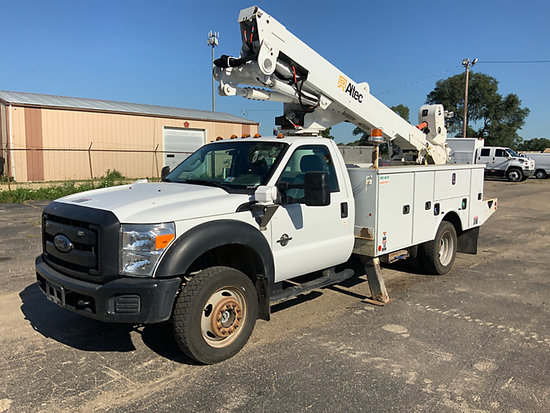 (South Beloit, IL) Altec AT40M, Articulating & Telescopic Material Handling Bucket Truck mounted beh