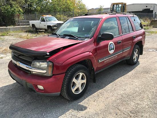 2002 Chevrolet Trailblazer 4x4 4-Door Sport Utility Vehicle Runs & drives