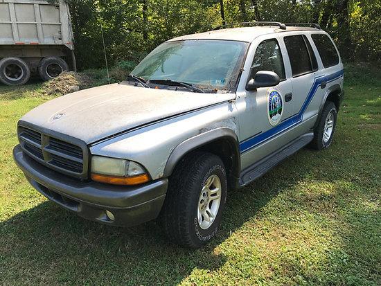 2002 Dodge Durango 4x4 4-Door Sport Utility Vehicle body & frame rust, runs & drives