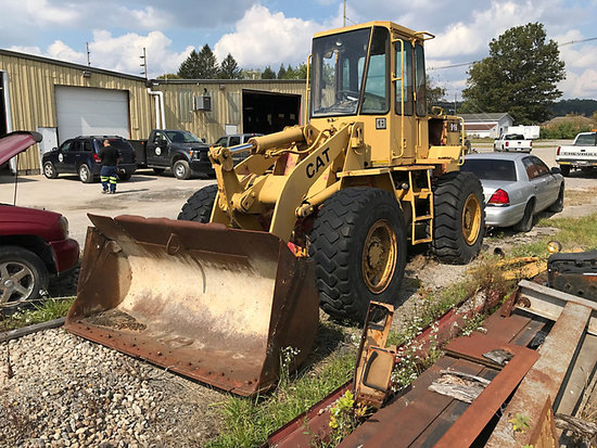 1988 Caterpillar 916 Articulating Wheel Loader bad trans, will not move, cab apart, seat not attache