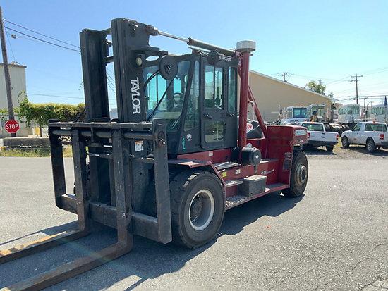 (Wilmington, DE) 2010 Taylor TXH350L, 35,000# Pneumatic Tired Forklift runs, drives, operates