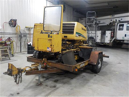 2008 Vermeer SC60TX Walk-Behind Stump Grinder, Not Selling with Trailer body damage) (runs & operate