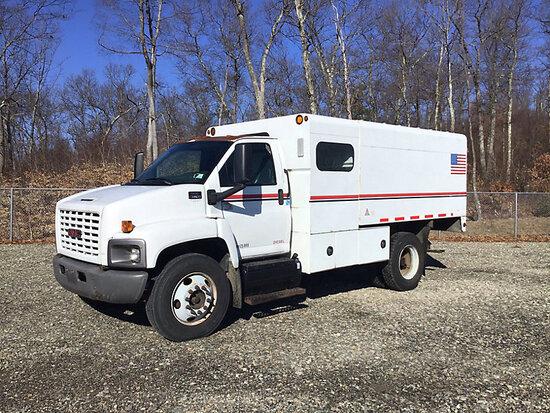 (Shrewsbury, MA) 2007 GMC C7500 Chipper Dump Truck not running, bad starter / electrical problems, v