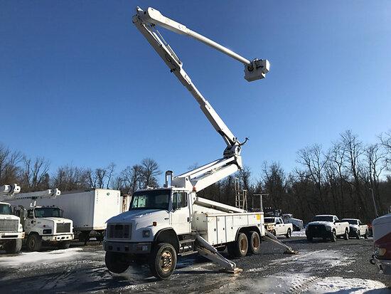 (Harrisburg, PA) Altec AM900-E100, Double-Elevator Bucket Truck rear mounted on 2004 Freightliner FL
