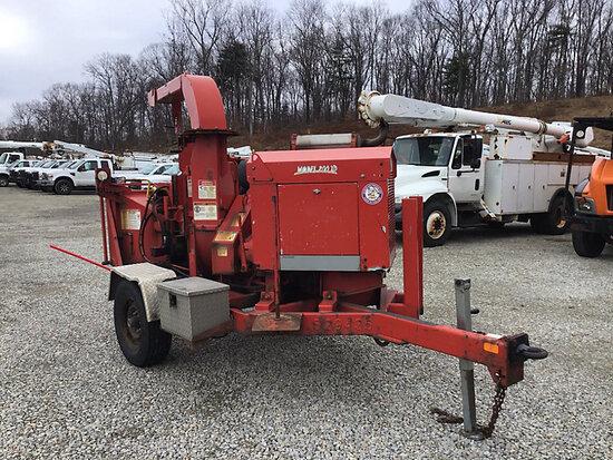 """(Shrewsbury, MA) 2012 Bandit 200 XP Chipper (12"""" Disc), trailer mtd runs, hyd leak at feed wheel,"""
