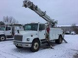 (Des Moines, IA) Altec D945-TR, Digger Derrick rear mounted on 2000 Freightliner FL70 Utility Truck
