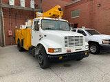 (Hammond, IN) Altec TA35, Articulating & Telescopic Bucket Truck mounted behind cab on 1998 Internat