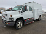 (South Beloit, IL) 2007 GMC C6500 Crew-Cab Enclosed Utility Truck runs and drives, need brakes, air