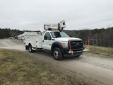 (Mount Airy, NC) Altec AT37G, Articulating & Telescopic Bucket Truck mounted behind cab on 2012 Ford