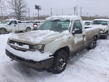 (East Chicago, IN) 2005 Chevrolet C1500 Pickup Truck runs & drives , flat tire, body damage