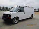 (Houston, TX) 2006 Chevrolet G1500 Cargo Van Starts and runs. Minor body damage, cracked windshield.