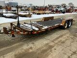 (South Beloit, IL) 2003 Towmaster T12 T/A Tilt Deck Tagalong Equipment Trailer seller states (broken