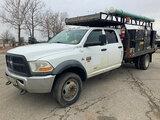(Kansas City, MO) 2011 Dodge W5500HD 4x4 Crew-Cab Flatbed/Service Truck Starts, runs and drives. Pow