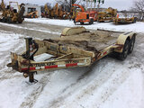 (Des Moines, IA) 2002 Trail King TKT10U-162 T/A Tilt Deck Tagalong Equipment Trailer, 13,400 lb. GVW
