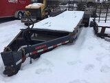(Shakopee, MN) 2017 SURETRAC ST7225ITPL-5-B-200 T/A Tagalong Equipment Trailer wrecked, trailer was