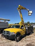 (Ocala, FL) HiRanger TL38, Articulating & Telescopic Bucket Truck mounted behind cab on 2013 Dodge/R