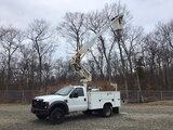 (Shrewsbury, MA) Altec AT235, Articulating & Telescopic Non-Insulated Bucket Truck mounted behind ca