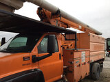 (Columbus, OH) Altec LRV60-E70, Over-Center Elevator Bucket Truck mounted behind cab on 2008 GMC C75
