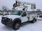 (Des Moines, IA) Altec AT37G, Articulating & Telescopic Bucket Truck mounted behind cab on 2005 Ford