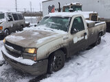 (East Chicago, IN) 2005 Chevrolet C1500 Pickup Truck runs & drives, flat tires