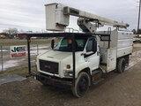 (Charlotte, MI) HiRanger XT55, Over-Center Bucket Truck mounted behind cab on 2009 GMC C7500 Chipper