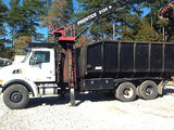 (Graysville, AL) Prentice 2124-BC, Grappleboom/Log Loader Crane mounted behind cab on 2007 STERLING