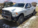 (Bloomington, IL) 2013 Ram W2500 4x4 Crew-Cab Pickup Truck Starts, runs, drives, tire monitor on. bo