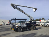 (Chester, VA) Altec LRV-57RM, Over-Center Bucket Truck rear mounted on 2009 Ford F750 Flatbed Truck