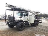 (Chester, VA) HiRanger/Terex XT55, Over-Center Bucket Truck rear mounted on 2010 International 7300
