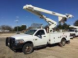 (Hondo, TX) Versalift VO40MHI, Over-Center Material Handling Bucket Truck center mounted on 2011 Dod