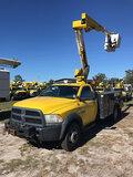 (Ocala, FL) Versalift SST37EIH-01, Articulating & Telescopic Bucket Truck mounted behind cab on 2013