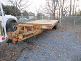 (Shelby, NC) 2005 Hudson HTD18E 9 Ton T/A Tagalong Equipment Trailer Operational, Condition Provided