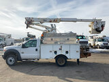 (South Beloit, IL) Altec AT37G, Articulating & Telescopic Bucket Truck mounted behind cab on 2011 Fo