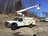 (Shrewsbury, MA) Altec AT200A, Telescopic Non-Insulated Bucket Truck mounted behind cab on 2006 Ford