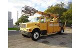 (Hallandale Beach, FL) Telsta T40C, Telescopic Non-Insulated Cable Placing Bucket Truck center mount