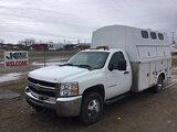 (Charlotte, MI) 2009 Chevrolet K3500HD 4x4 Enclosed Service Truck runs and drives, no brakes, need b